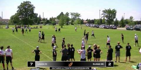 Video – 2013 Ontario Ultimate Championships Final vs. Surge (Kingston)